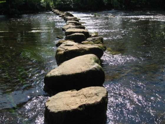 Stepping stones leading to…